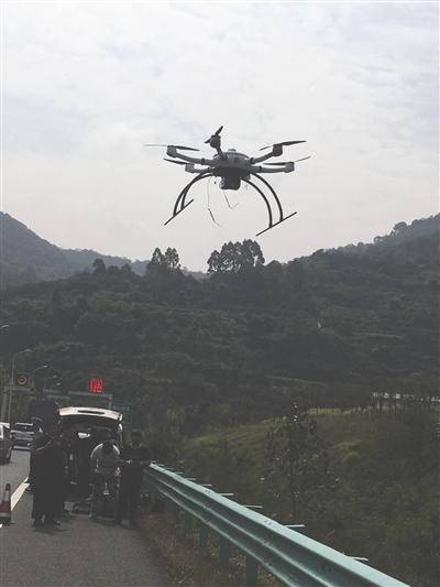 四川启用无人机巡逻 半天抓拍40余件交通违法(图)