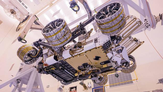 美国国家航空航天局的独创号火星直升机飞行模型